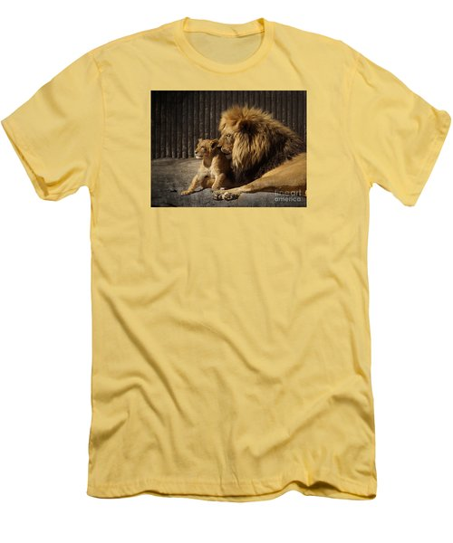 Men's T-Shirt (Slim Fit) featuring the photograph A Father's Love by Inge Riis McDonald