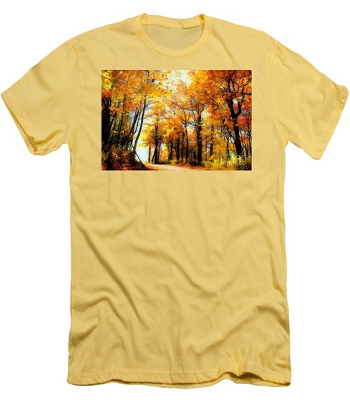 A Golden Day Men's T-Shirt (Slim Fit) by Lois Bryan