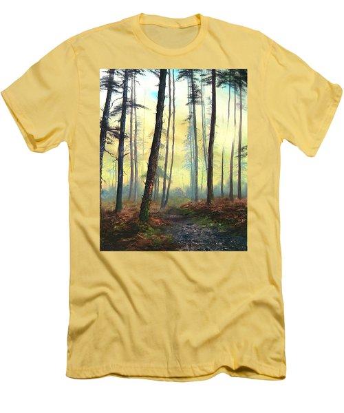 A Lovely Walk On Cannock Chase Men's T-Shirt (Slim Fit) by Jean Walker
