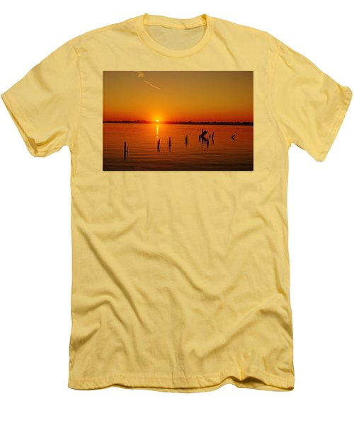 A New Day Dawns... Over Dock Remains Men's T-Shirt (Slim Fit) by Daniel Thompson