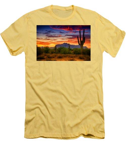 A Painted Desert  Men's T-Shirt (Slim Fit) by Saija  Lehtonen