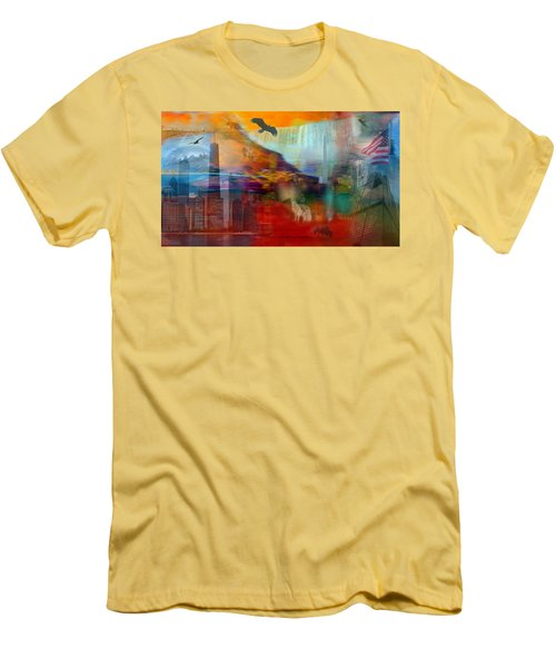 A Piece Of America Men's T-Shirt (Slim Fit) by Randi Grace Nilsberg