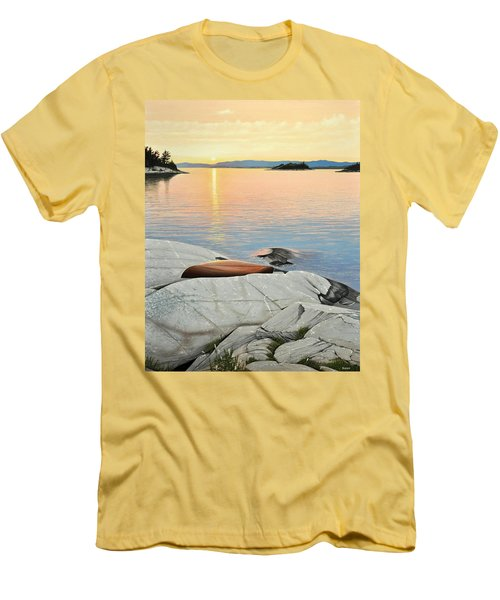 A Quiet Time Men's T-Shirt (Slim Fit) by Kenneth M  Kirsch
