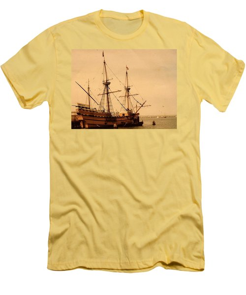 A Small Old Clipper Ship Men's T-Shirt (Athletic Fit)
