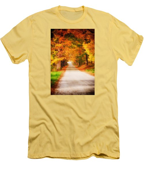 A Walk Along The Golden Path Men's T-Shirt (Slim Fit) by Jeff Folger