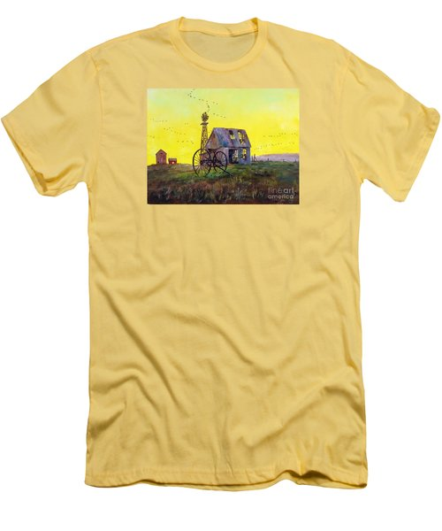 Abandoned  Farm Men's T-Shirt (Slim Fit) by Lee Piper