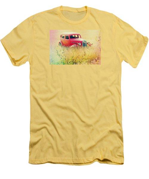 Abandoned Treasure Men's T-Shirt (Slim Fit) by Leticia Latocki
