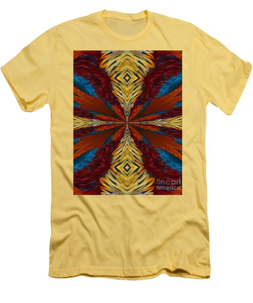 Abstract Feathers Men's T-Shirt (Slim Fit) by Smilin Eyes  Treasures