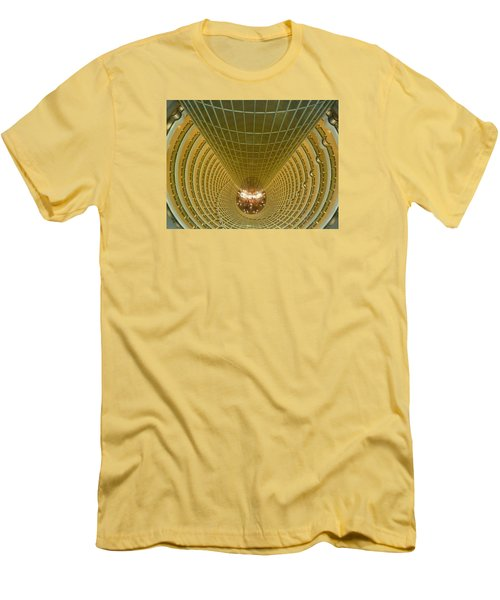 Abstract In Gold Men's T-Shirt (Slim Fit) by Alan Socolik