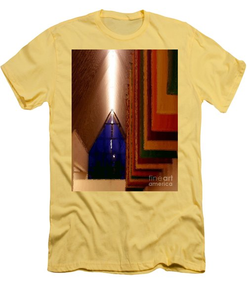 Men's T-Shirt (Slim Fit) featuring the photograph Abstract - Center For The Arts Interior Allentown Pa by Jacqueline M Lewis