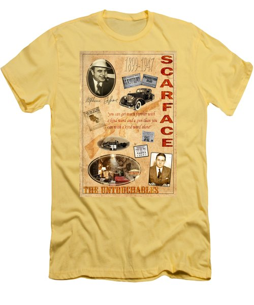 Al Capone Men's T-Shirt (Slim Fit) by Andrew Fare