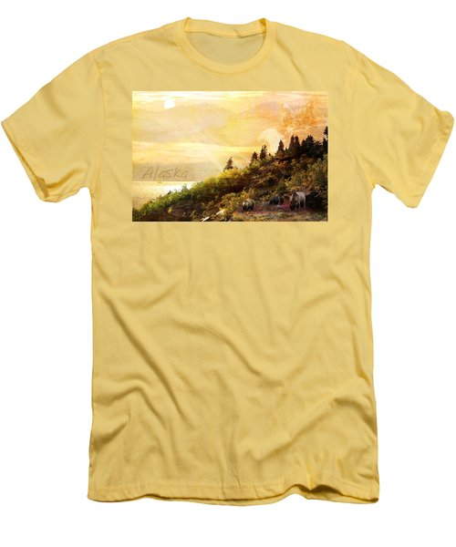 Men's T-Shirt (Slim Fit) featuring the photograph Alaska Montage by Ann Lauwers