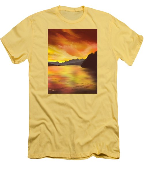 Alaska Sunset Men's T-Shirt (Athletic Fit)