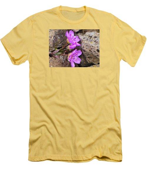 Alaskan Wildflower Men's T-Shirt (Slim Fit) by Julie Andel