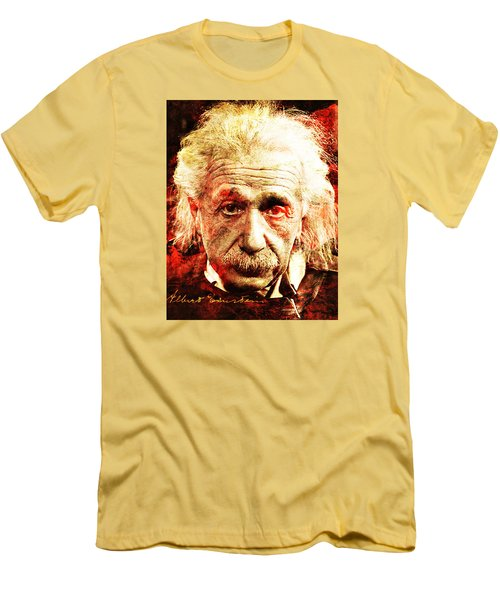 Albert Einstein  Men's T-Shirt (Slim Fit) by J- J- Espinoza