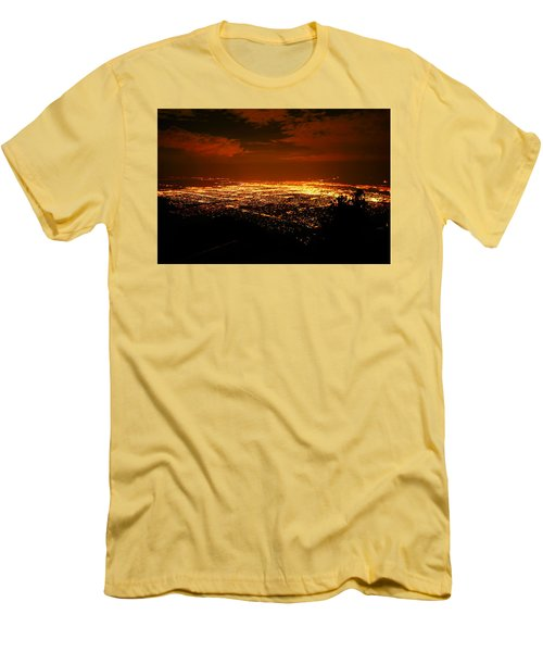 Albuquerque New Mexico  Men's T-Shirt (Slim Fit) by Jeff Swan