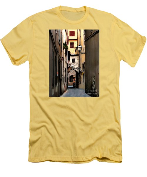 Alley In Florence 1 Men's T-Shirt (Slim Fit) by Jennie Breeze