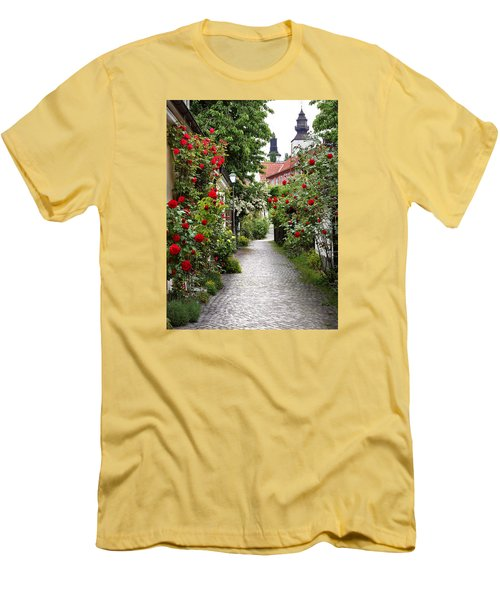Alley Of Roses Men's T-Shirt (Athletic Fit)