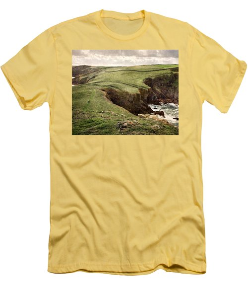 Along The Coast Path Men's T-Shirt (Athletic Fit)