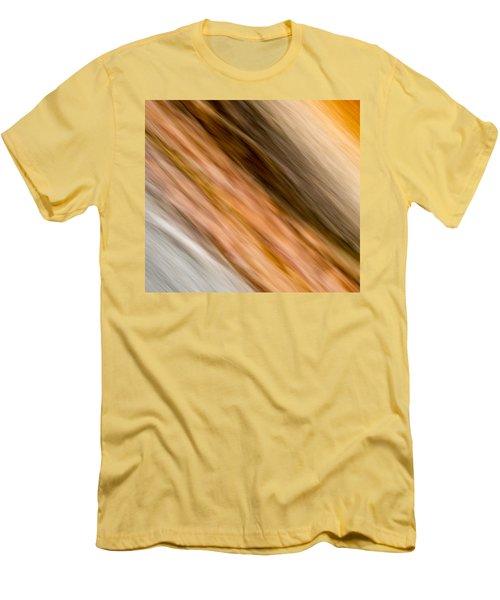 Amber Diagonal Men's T-Shirt (Slim Fit) by Darryl Dalton