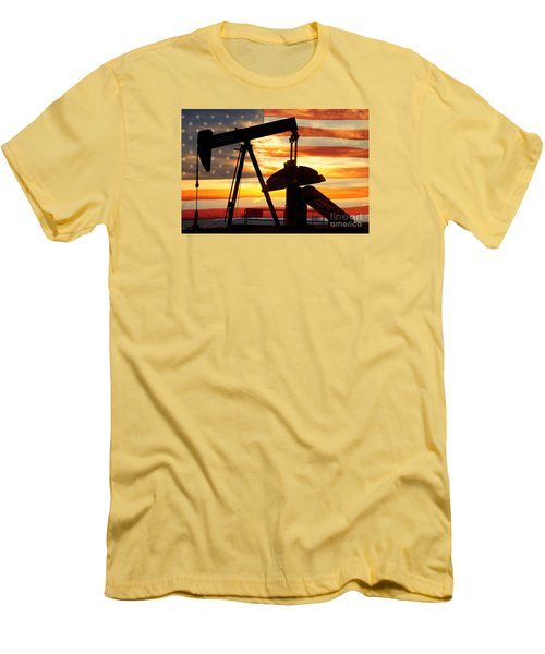 American Oil  Men's T-Shirt (Slim Fit) by James BO  Insogna