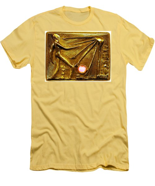 Sun God Worship  Men's T-Shirt (Slim Fit) by Hartmut Jager