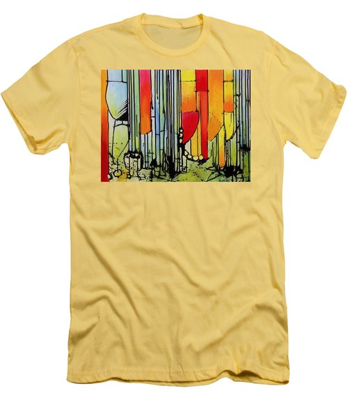 Men's T-Shirt (Slim Fit) featuring the painting Anger Serves No Purpose by Jason Williamson