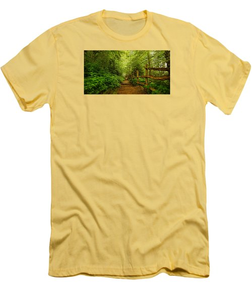 Appalachian Trail At Newfound Gap Men's T-Shirt (Slim Fit) by Stephen Stookey