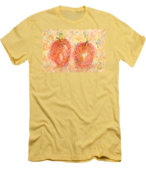Apple Twins Men's T-Shirt (Slim Fit) by Paula Ayers