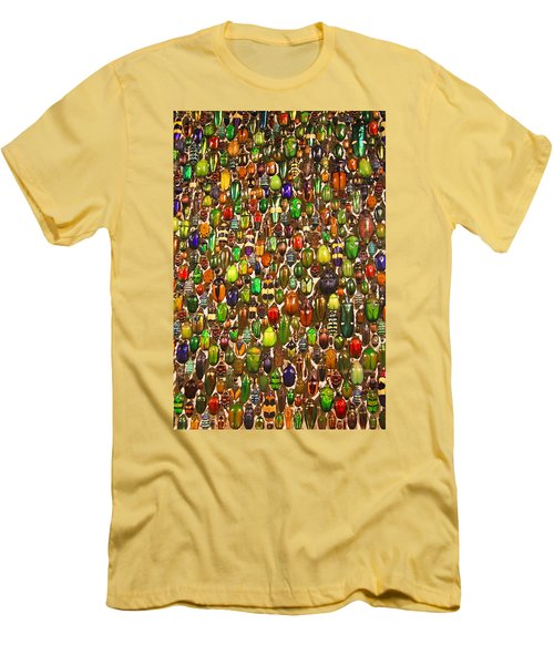 Army Of Beetles And Bugs Men's T-Shirt (Slim Fit) by Brooke T Ryan