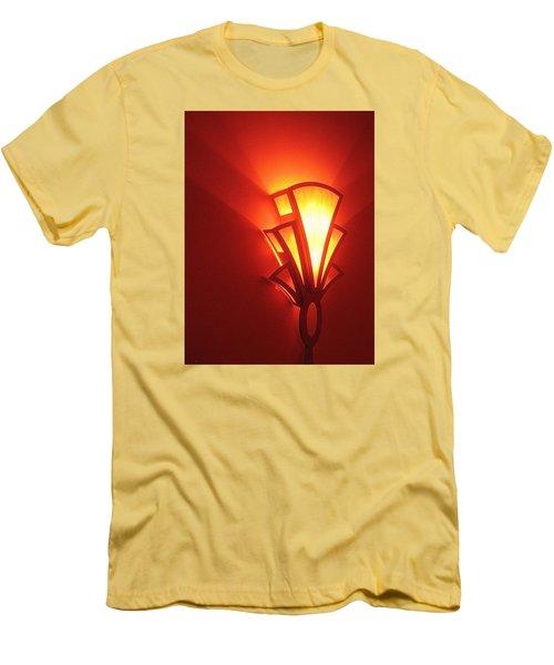 Men's T-Shirt (Slim Fit) featuring the photograph Art Deco Light Fox Tucson Arizona  Theater  2006 by David Lee Guss