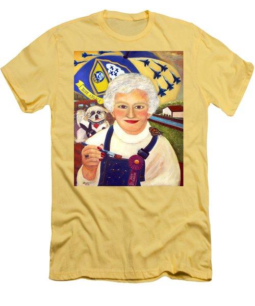 Artist At Work Portrait Of Mary Krupa Men's T-Shirt (Slim Fit) by Bernadette Krupa