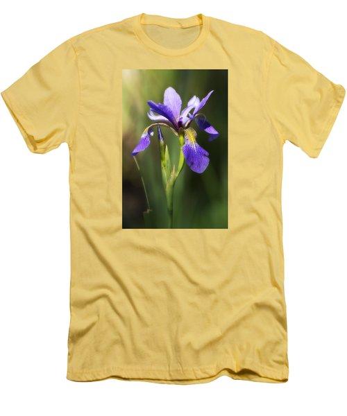 Artsy Iris Men's T-Shirt (Slim Fit) by Shelly Gunderson