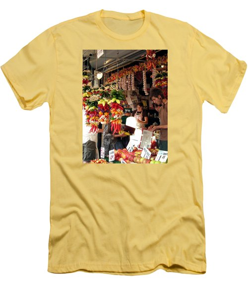 Men's T-Shirt (Slim Fit) featuring the photograph At The Market by Chris Anderson