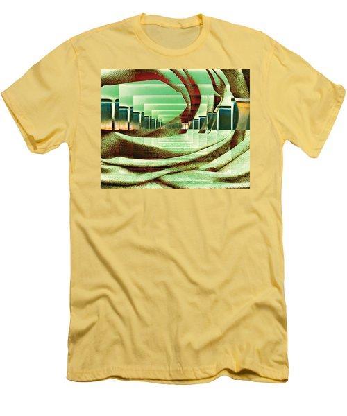 Men's T-Shirt (Slim Fit) featuring the digital art Atrium by Paula Ayers