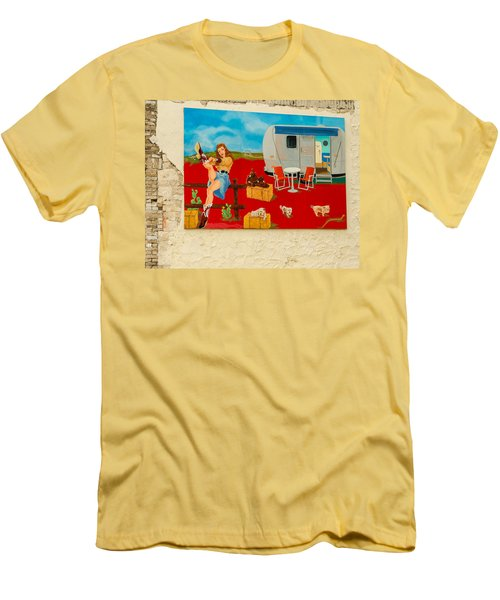 Austin - Camping Mural Men's T-Shirt (Athletic Fit)