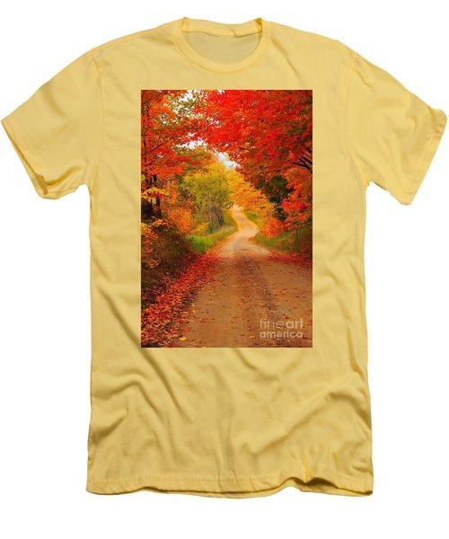 Autumn Cameo Men's T-Shirt (Slim Fit) by Terri Gostola