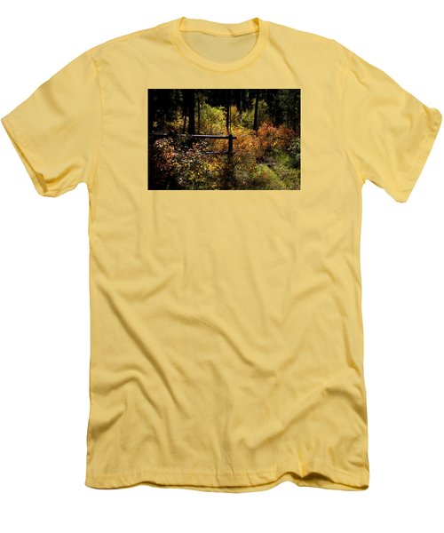 Men's T-Shirt (Slim Fit) featuring the photograph Autumn Colors 3 by Newel Hunter