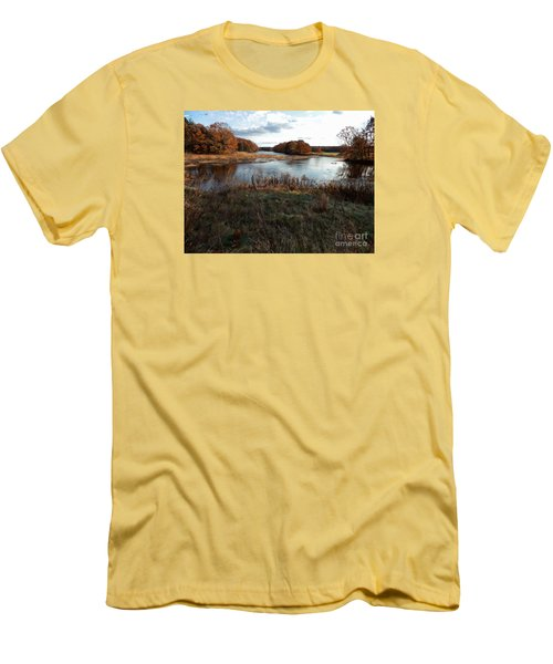 Autumn Colors Men's T-Shirt (Slim Fit) by Marcia Lee Jones