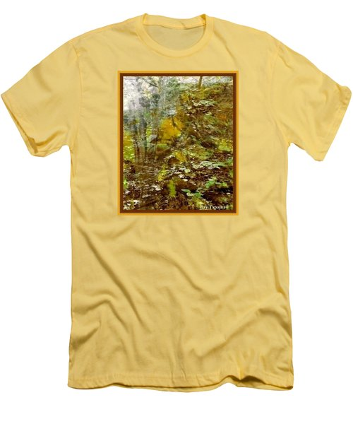 Men's T-Shirt (Slim Fit) featuring the mixed media Autumn Impressions by Ray Tapajna