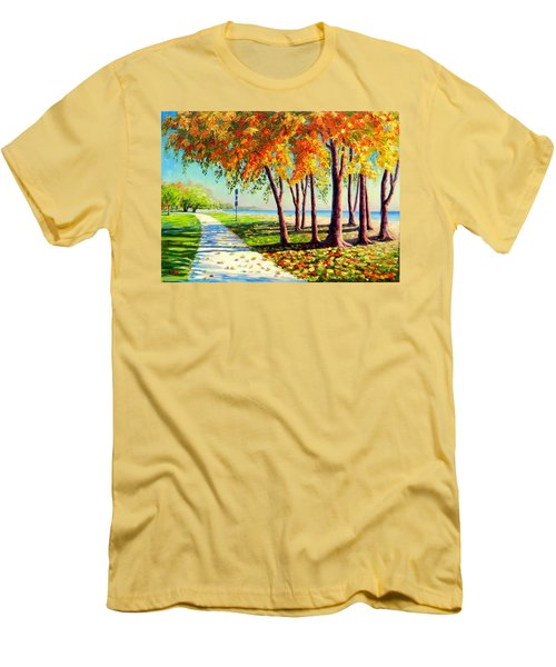 Autumn In Ontario Men's T-Shirt (Athletic Fit)