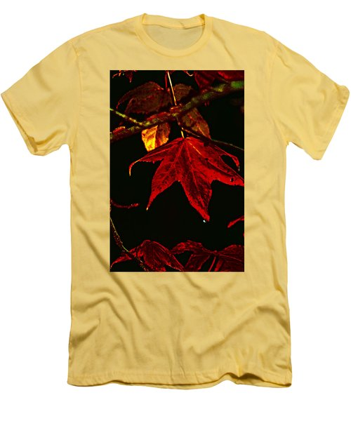 Men's T-Shirt (Slim Fit) featuring the photograph Autumn Leaves by Lesa Fine