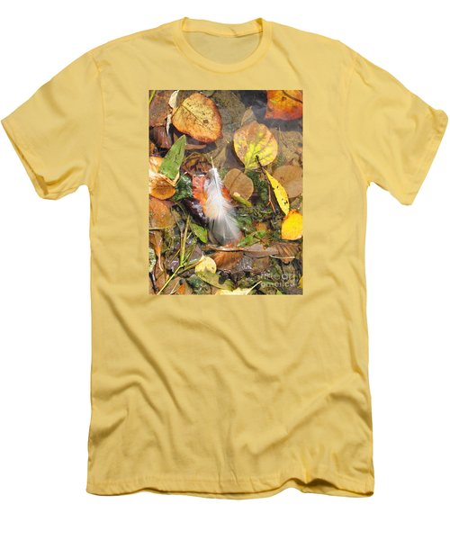 Men's T-Shirt (Slim Fit) featuring the photograph Autumn Leavings by Ann Horn