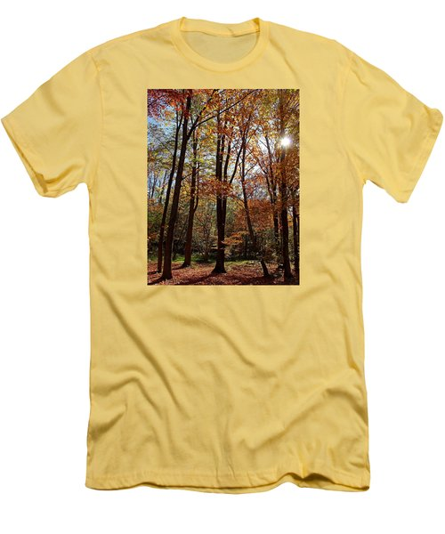 Men's T-Shirt (Slim Fit) featuring the photograph Autumn Picnic by Debbie Oppermann