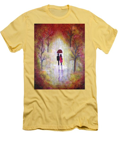 Autumn Romance Men's T-Shirt (Athletic Fit)