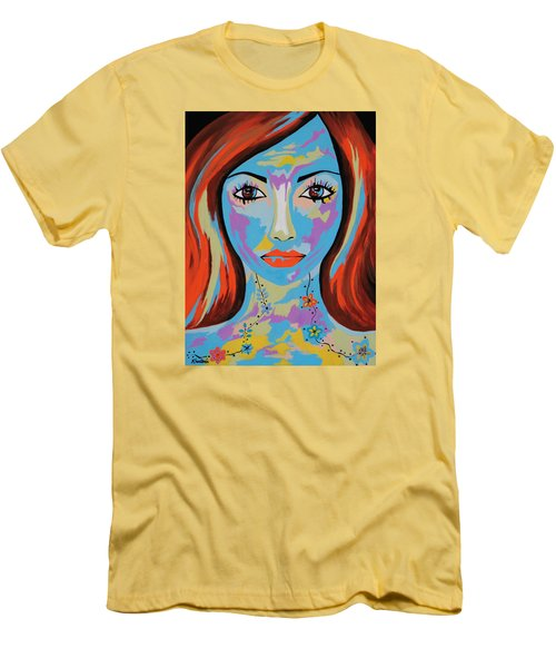 Men's T-Shirt (Slim Fit) featuring the painting Avani by Kathleen Sartoris
