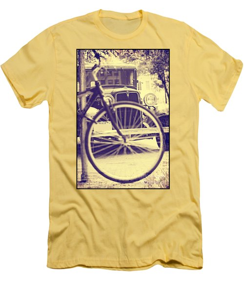 Men's T-Shirt (Slim Fit) featuring the digital art Back In Time by Erika Weber