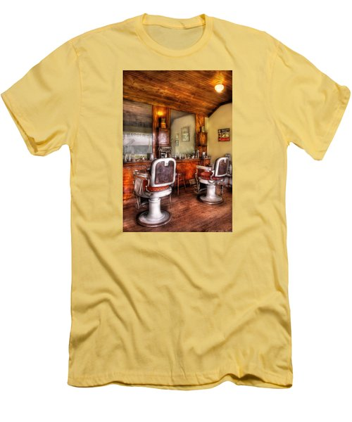 Barber - The Barber Shop II Men's T-Shirt (Slim Fit) by Mike Savad