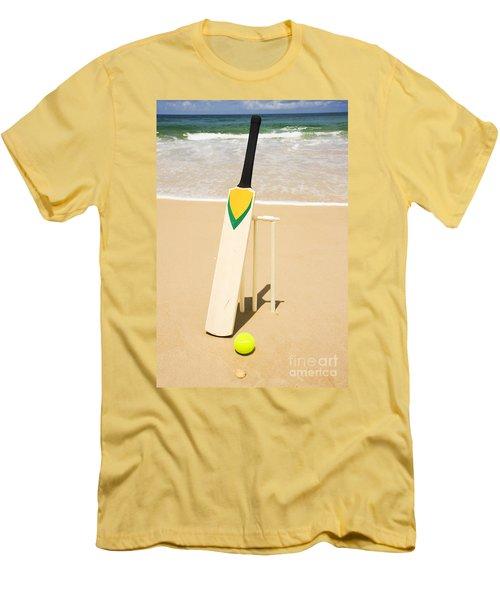 Bat Ball And Stumps Men's T-Shirt (Slim Fit) by Jorgo Photography - Wall Art Gallery