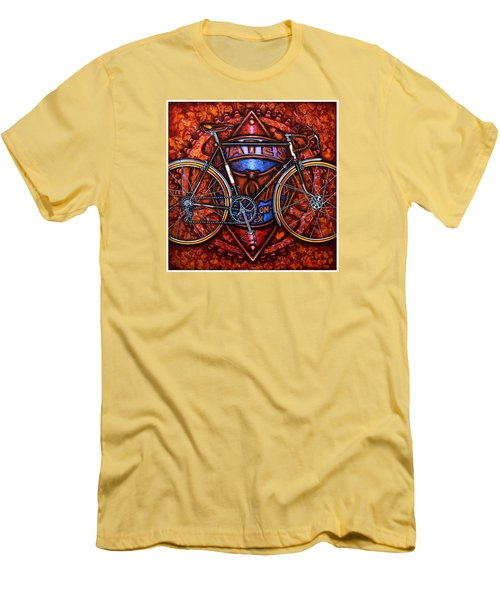 Bates Bicycle Men's T-Shirt (Slim Fit) by Mark Jones